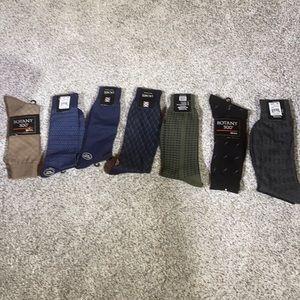7 pairs of dress socks various colors men 9-13